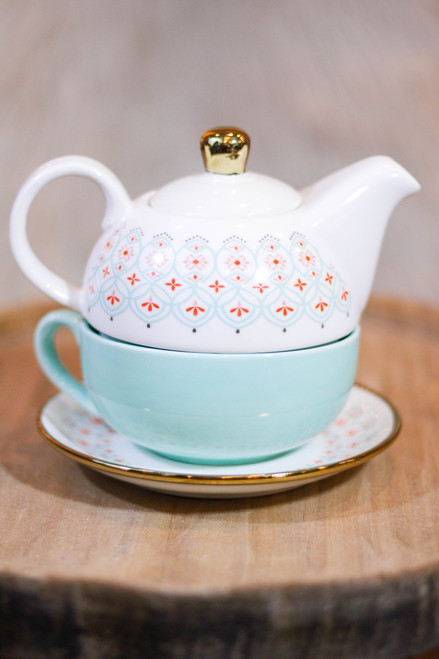 Pinky Up® Addison Arabesque Tea Set