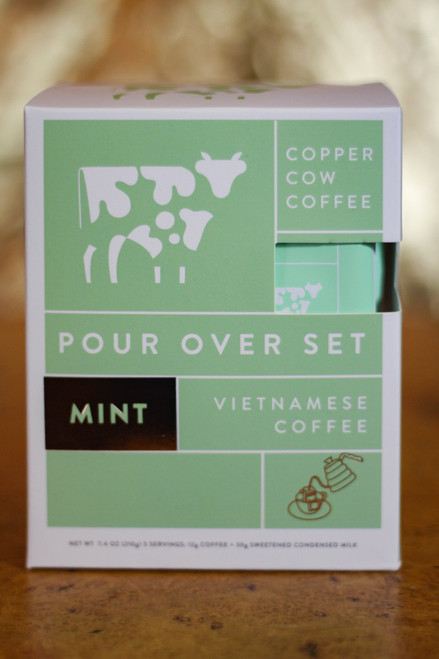 Mint Latte Copper Cow Coffee Pour Over Coffee | 5-Pack