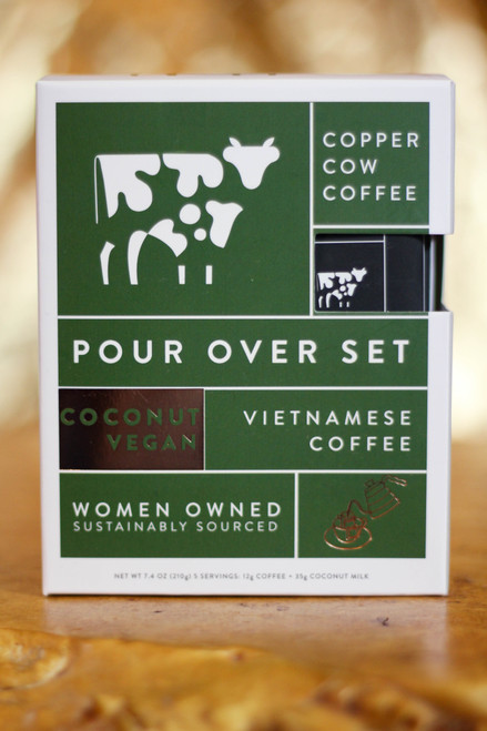 Coconut Latte Copper Cow Vietnamese Coffee Pour Over Coffee | 5-Pack