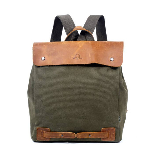 TSD Olive Canvas Cooper Backpack