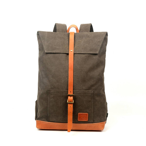 TSD Army Green Stone Creek Canvas Backpack