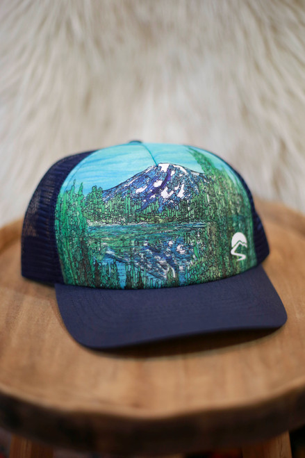 Sunday Afternoon Alpine Reflection Trucker Hat