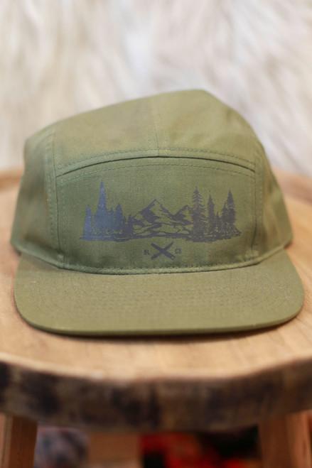 Black Lantern Olive Forest Cap