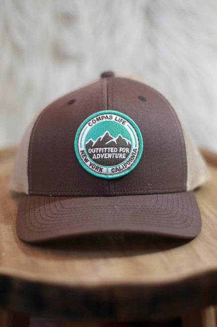 Compas Life Brown Outfitted for Adventure Snapback