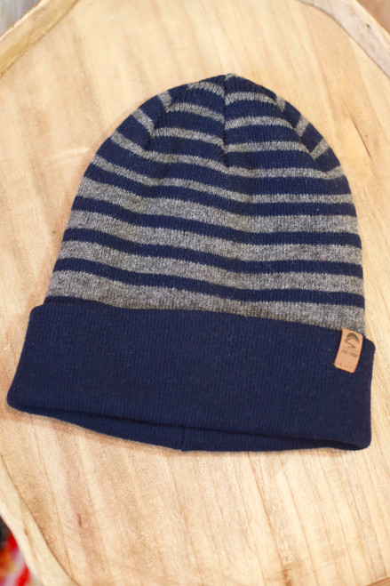 Sunday Afternoons Navy Striped Horizon Beanie