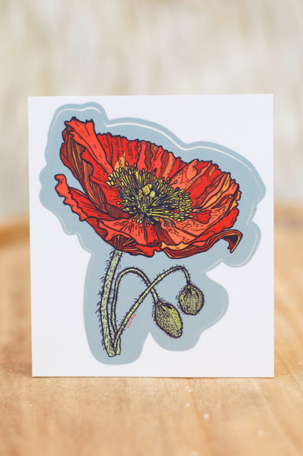 Slow Loris Red Poppy Sticker