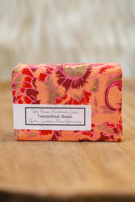 Little Flower Shop Tangerine Basil Essential Oil Soap