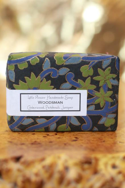 Little Flower Shop Woodsman Essential Oil Soap