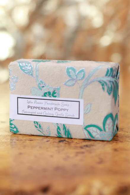 Little Flower Shop Peppermint Poppy Essential Oil Soap