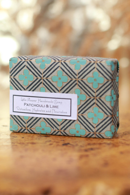 Little Flower Shop Patchouli and Lime Essential Oil Soap