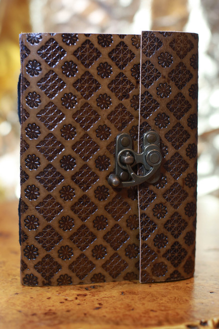 Soothi Embossed Leather Journal with Latch
