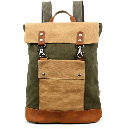 TSD Brand Green Hillside Backpack