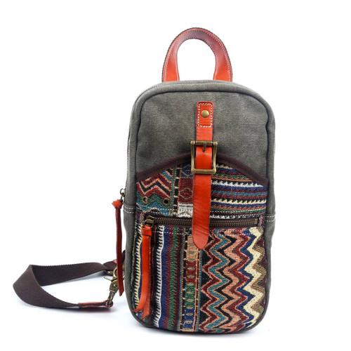 TSD Brand Olive Four Season Sling Bag