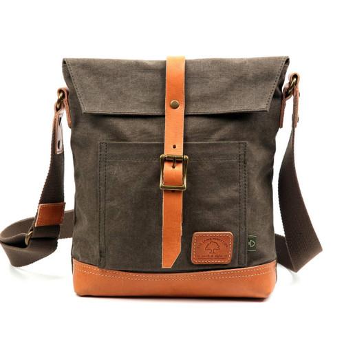 TSD Brand Army Green Stone Creek Crossbody Bag