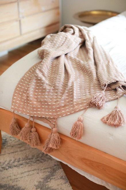 Tan Kadin Hand Woven Throw