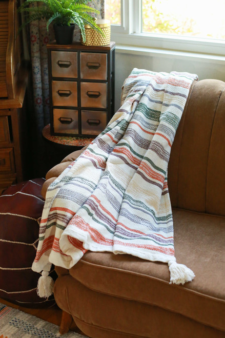 Multicolored Hayes Hand Woven Throw