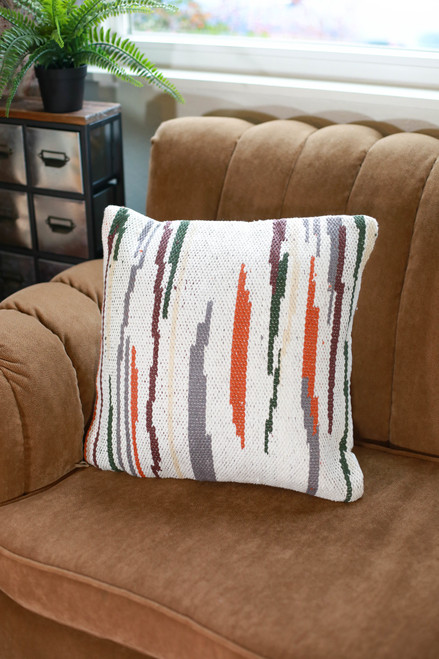 Multicolored Hayes Hand Woven Pillow