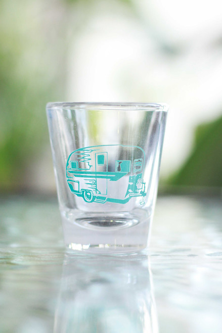 Aqua Camper Shot Glass