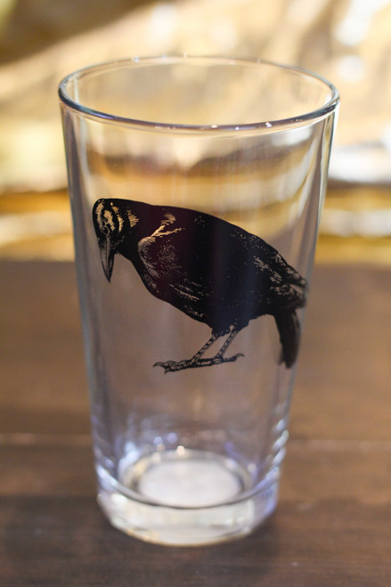 Black Crow Pint Glass