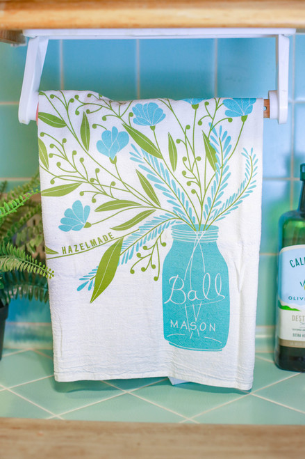 Mason Jar Bouquet Tea Towel