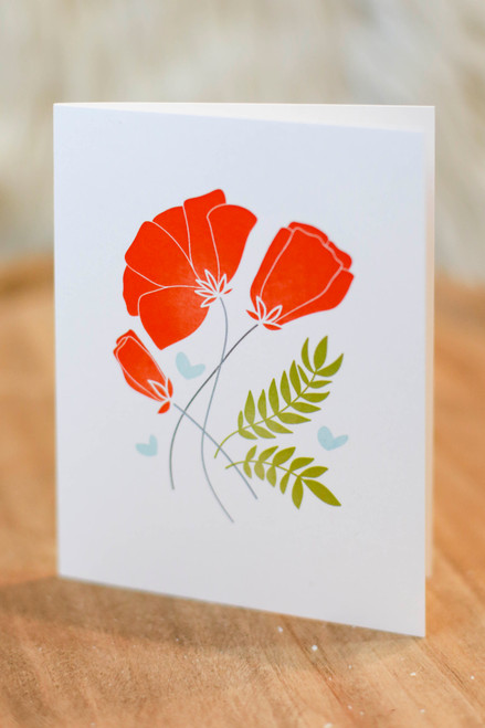 Poppies and Wheat Card