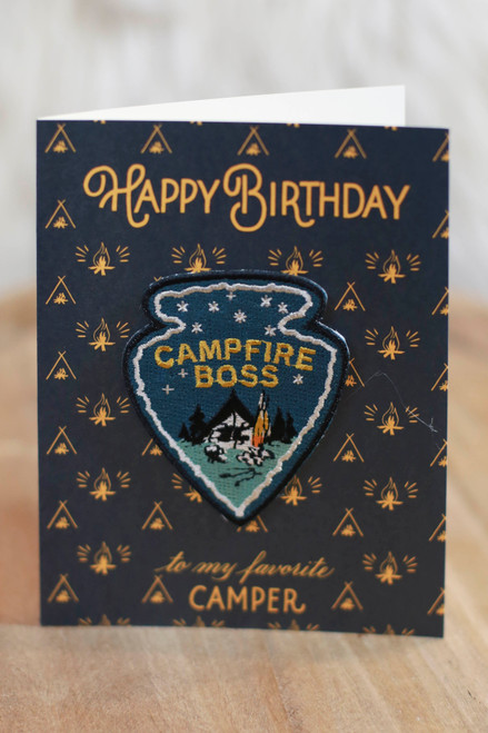 Campfire Boss Birthday Card with Patch