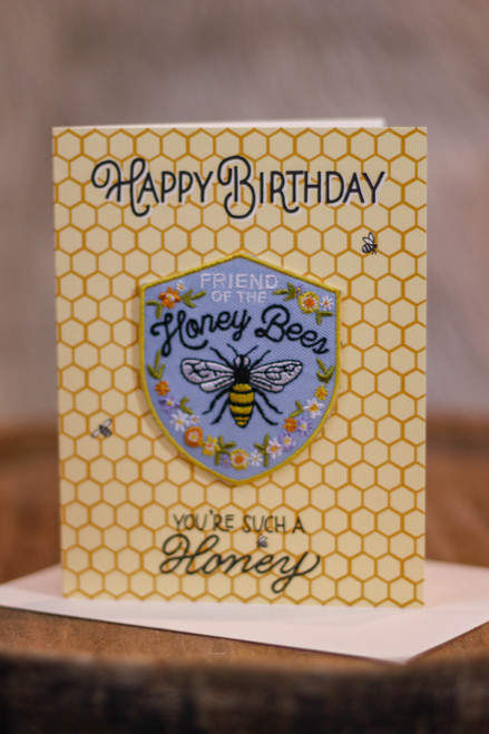 Honeybee Birthday Card with Patch
