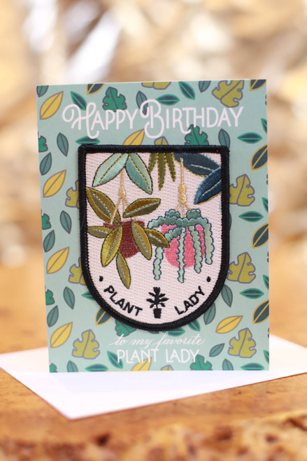 Plant Lady Birthday Card with Patch