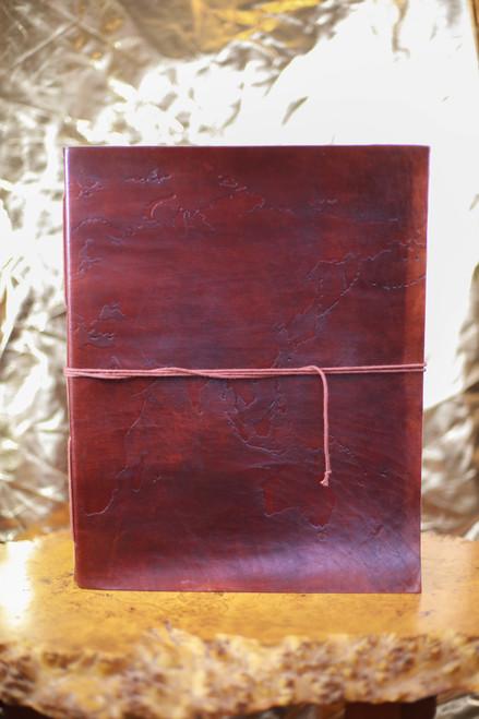 Soothi Oversize Large World Map Square Handmade Leather Journal