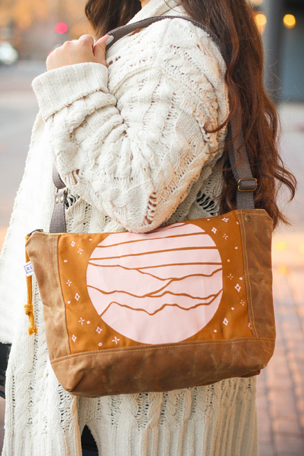 Rachel Elise Mustard Terrain Courier Bag