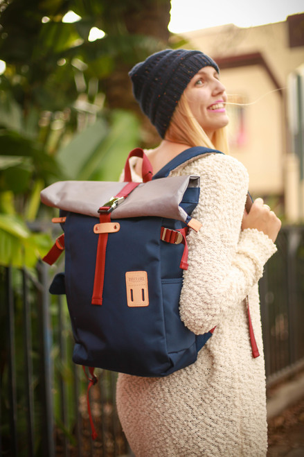 Harvest Navy Rolltop Backpack 2.0