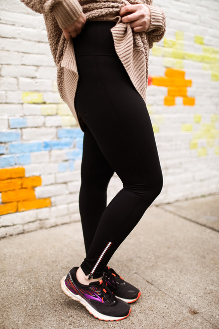 Activated Athletics Black High Waist Leggings with Zippered Ankle