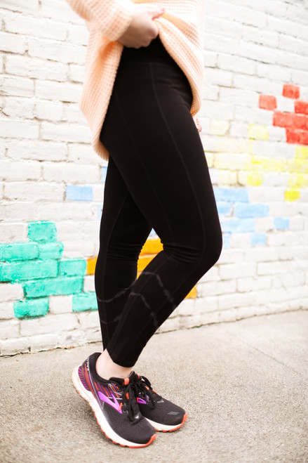 Activated Athletics Black High Waist Tie-Dye Cotton Leggings