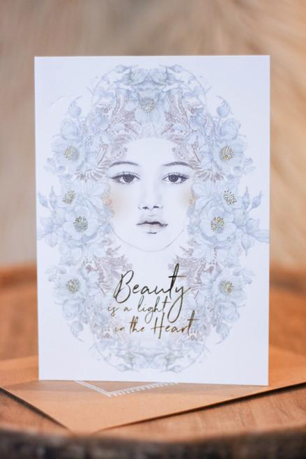 Papaya Beauty Light Greeting Card