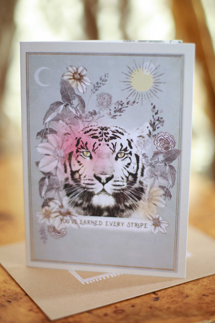 Papaya Tiger Stripes Greeting Card