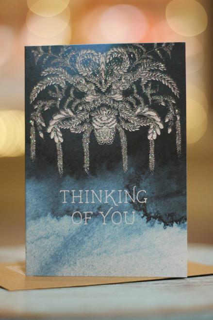 Papaya Catalina Thinking of You Mini Card