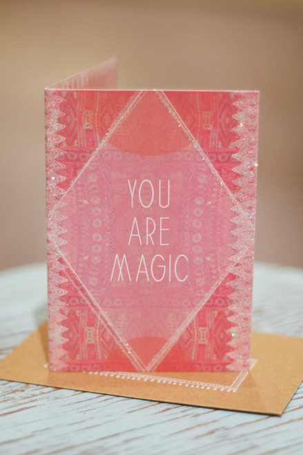 Papaya You Are Magic Mini Card