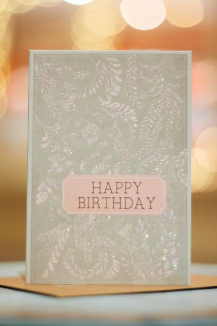 Papaya Birthday Flora Mini Card