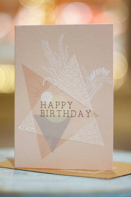 Papaya Geo Birthday Mini Card