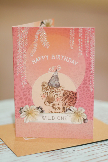 Papaya Wild One Mini Card