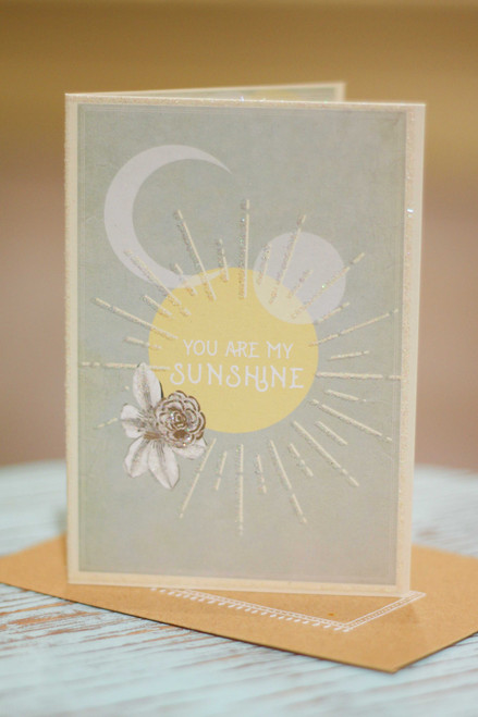 Papaya You Are My Sunshine Mini Card
