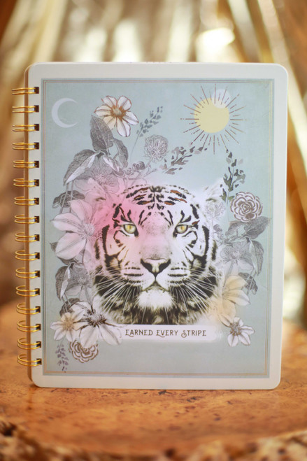 Papaya Stripes Spiral Notebook