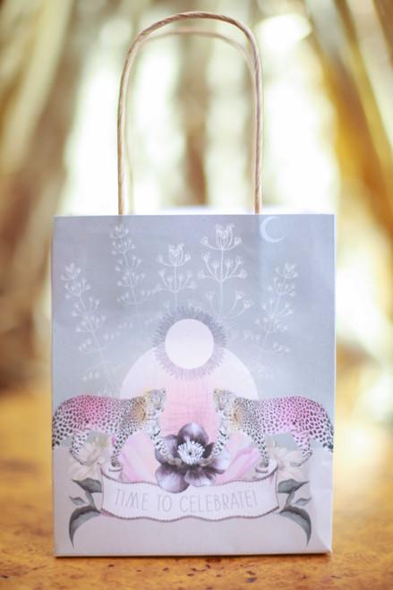 Papaya Twin Leopards Mini Gift Bag
