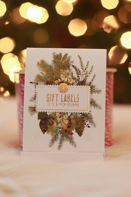 Papaya Deck the Halls Holiday Gift Labels
