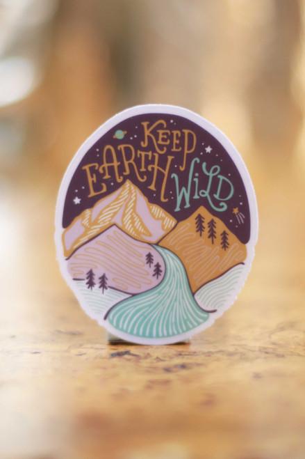 Keep Earth Wild Sticker
