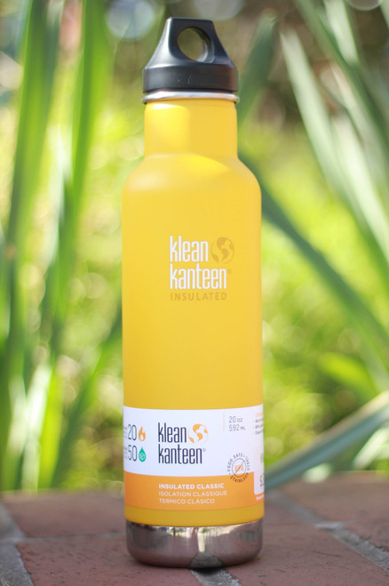 Klean Kanteen Insulated Classic 20 oz. Canteen in Lemon Curry
