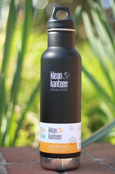 Klean Kanteen Insulated Classic 20 oz. Canteen in Shale Black