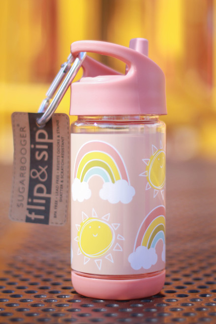 Sugarbooger Rainbows and Sunshine Flip and Sip Water Bottle