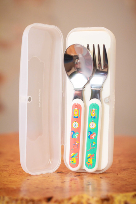 Sugarbooger Happy Camper Silverware Set