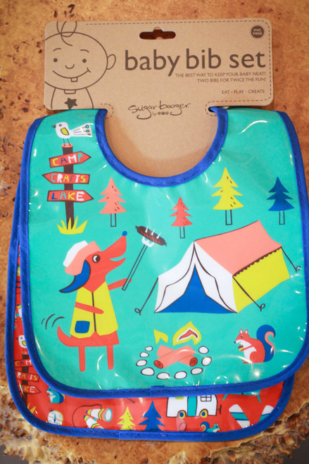 Sugarbooger Happy Camper Mini Bib Gift Set of Two